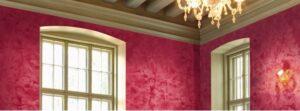 venetian plaster red walls