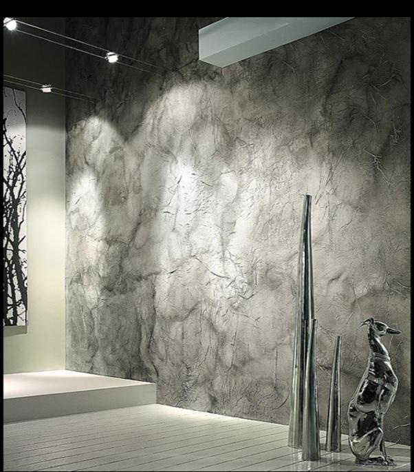 venetian plaster walls grey
